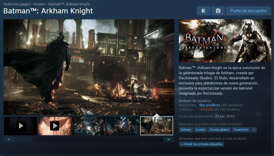 batman steam analisis