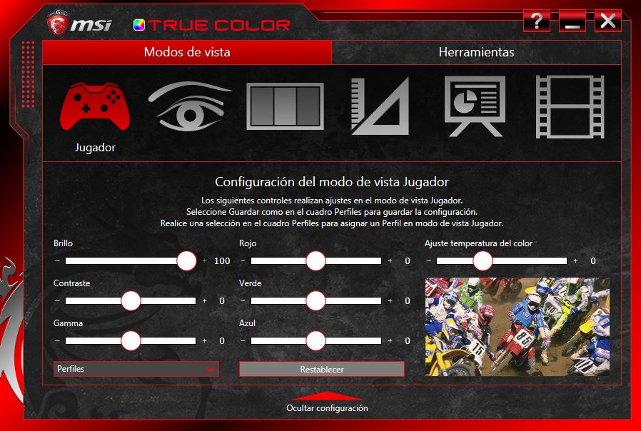 MSI TRUE COLOR GE62 7RE