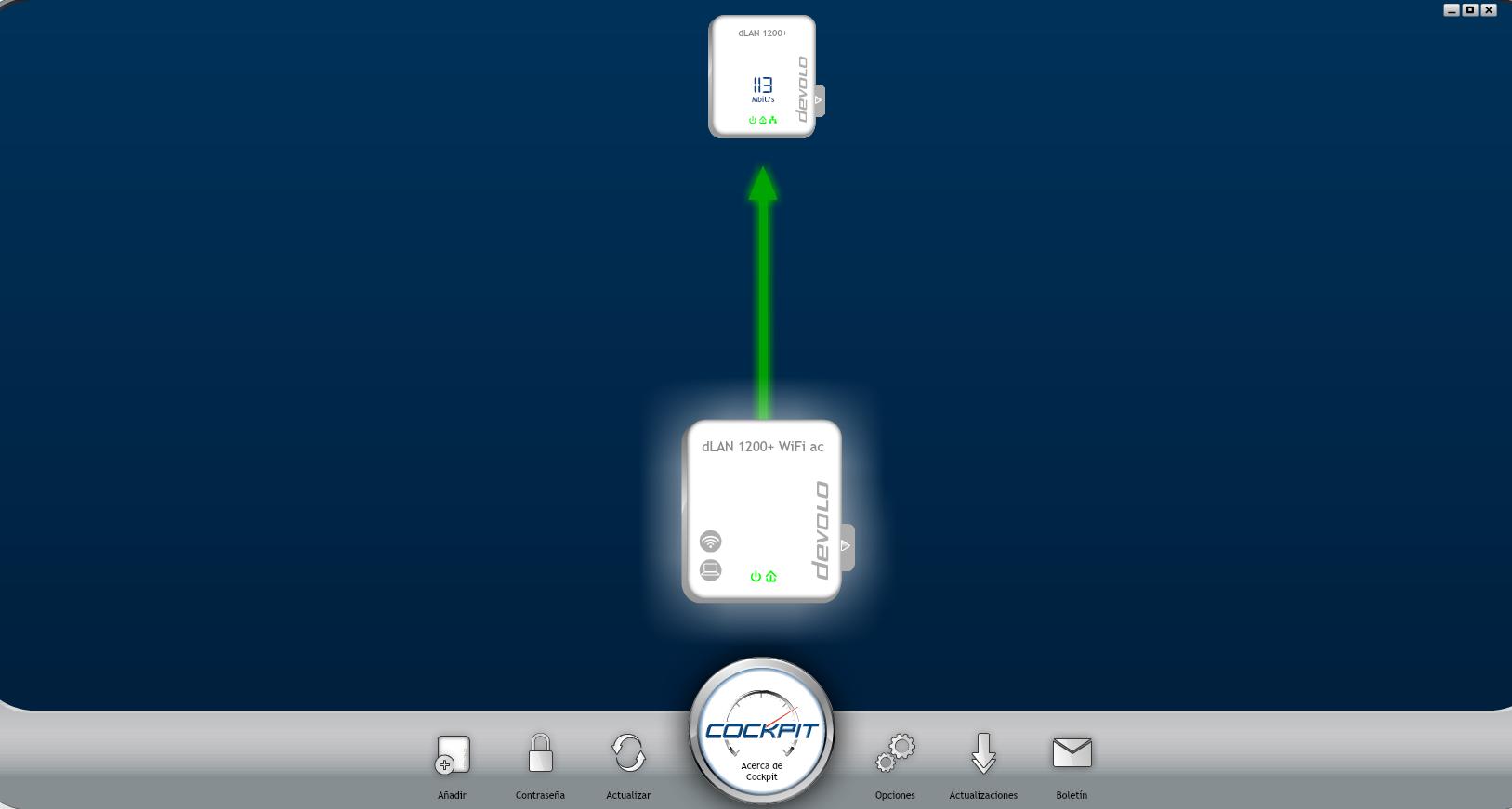 devolo dlan 1200 WiFi Starter Kit Análisis Cockpit
