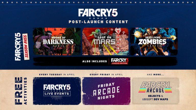 contenido post lanzamiento de Far Cry 5