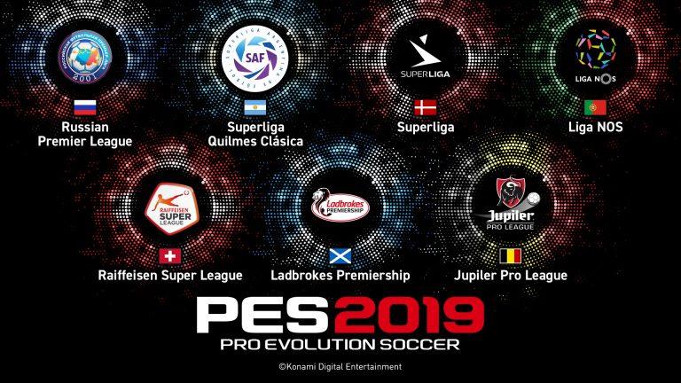 PES 2019 contará con siete