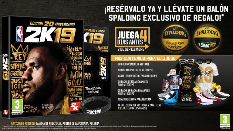 Edición 20 Aniversario de NBA 2K19
