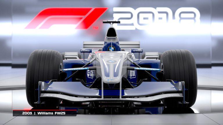 Williams FW25 de 2003 estará en F1 2018