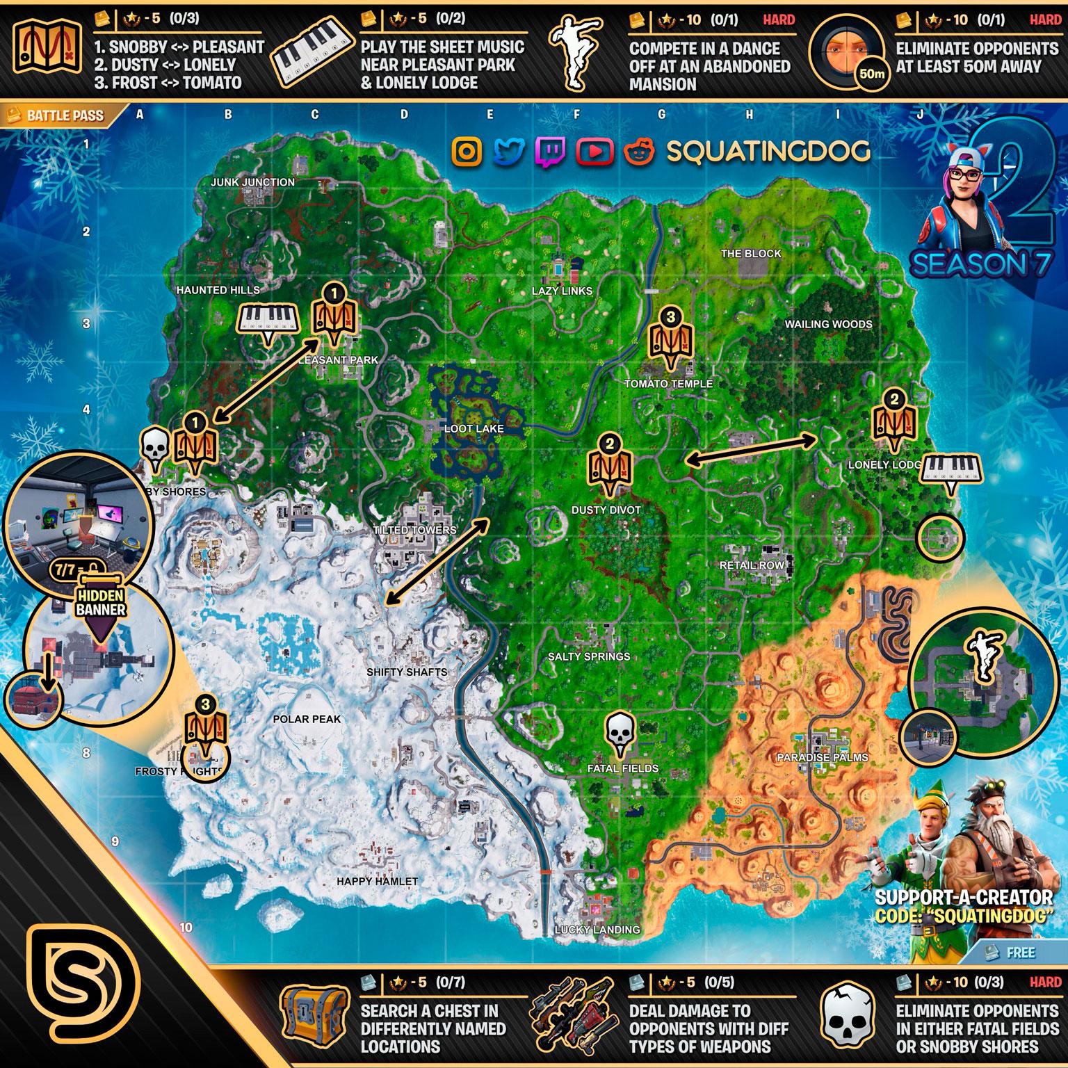 Fortnite Mapa semana 2 de la temporada 7