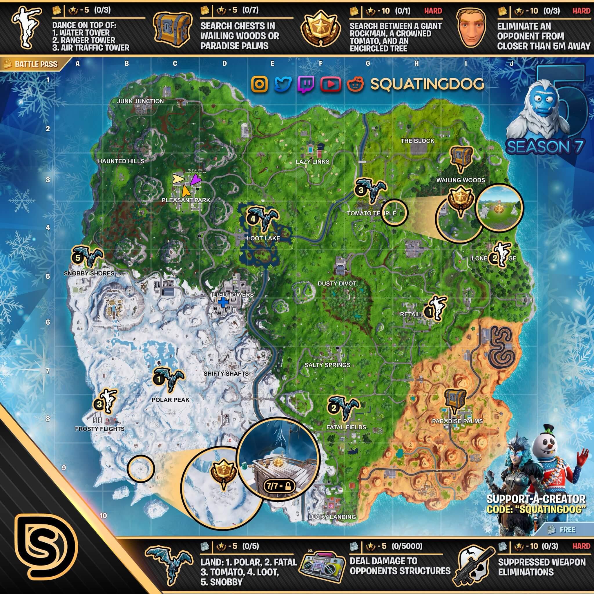 Fortnite Mapa semana 5 temporada 7