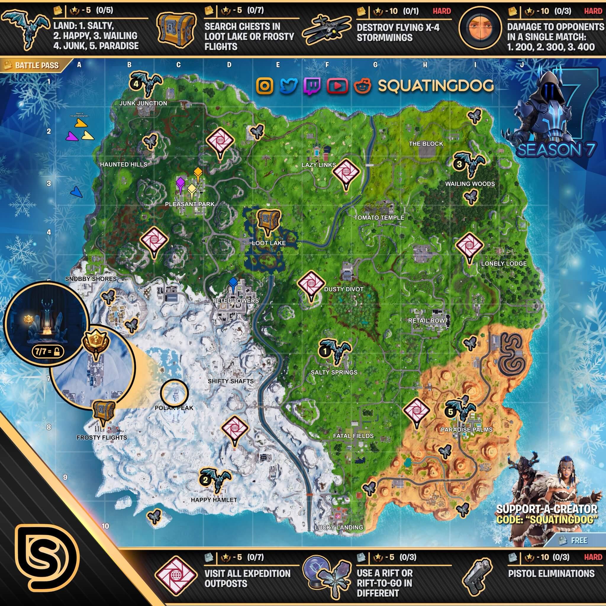 Fortnite Mapa semana 7 temporada 7