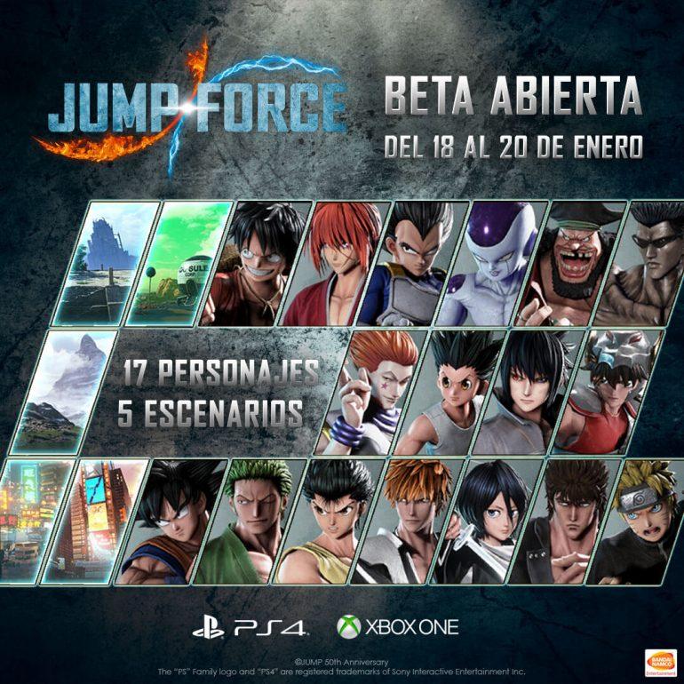 beta abierta de Jump Force
