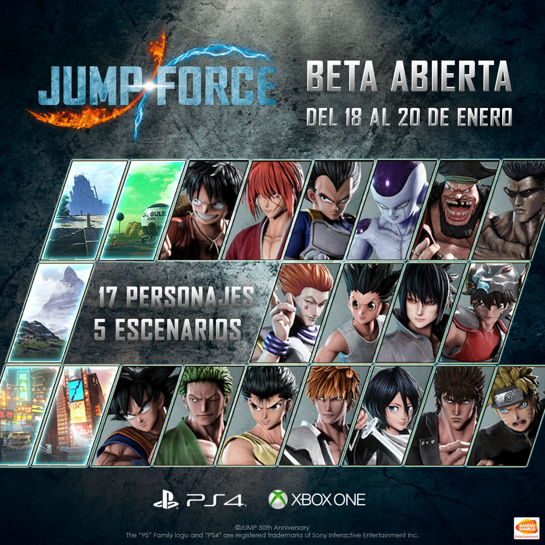 beta abierta de Jump Force
