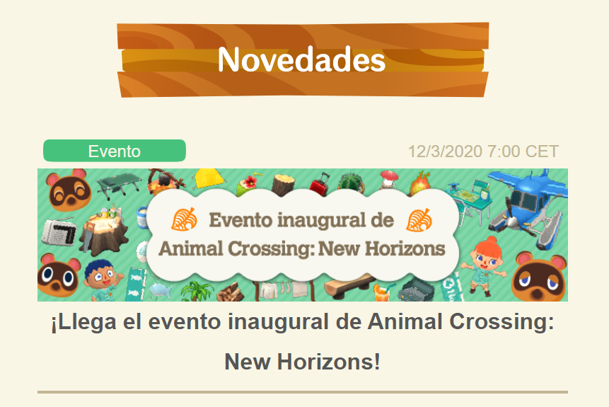 Animal Crossing New Horizons en el nuevo evento de AC Pocket Camp