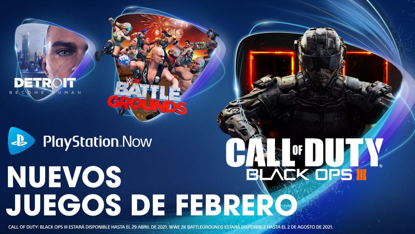 PlayStation Now en febrero 2021