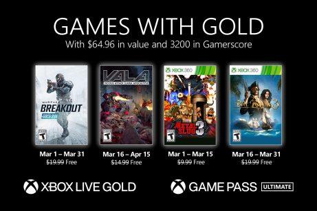 Xbox Gold de marzo 2021