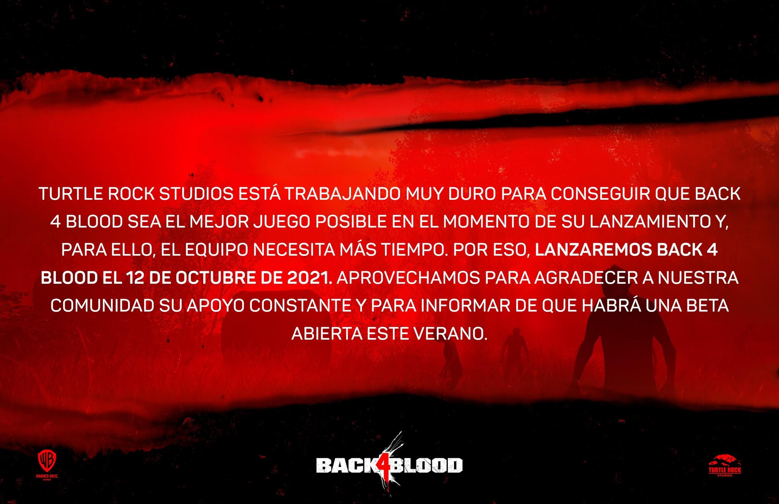 Back 4 Blood Cambio de fecha