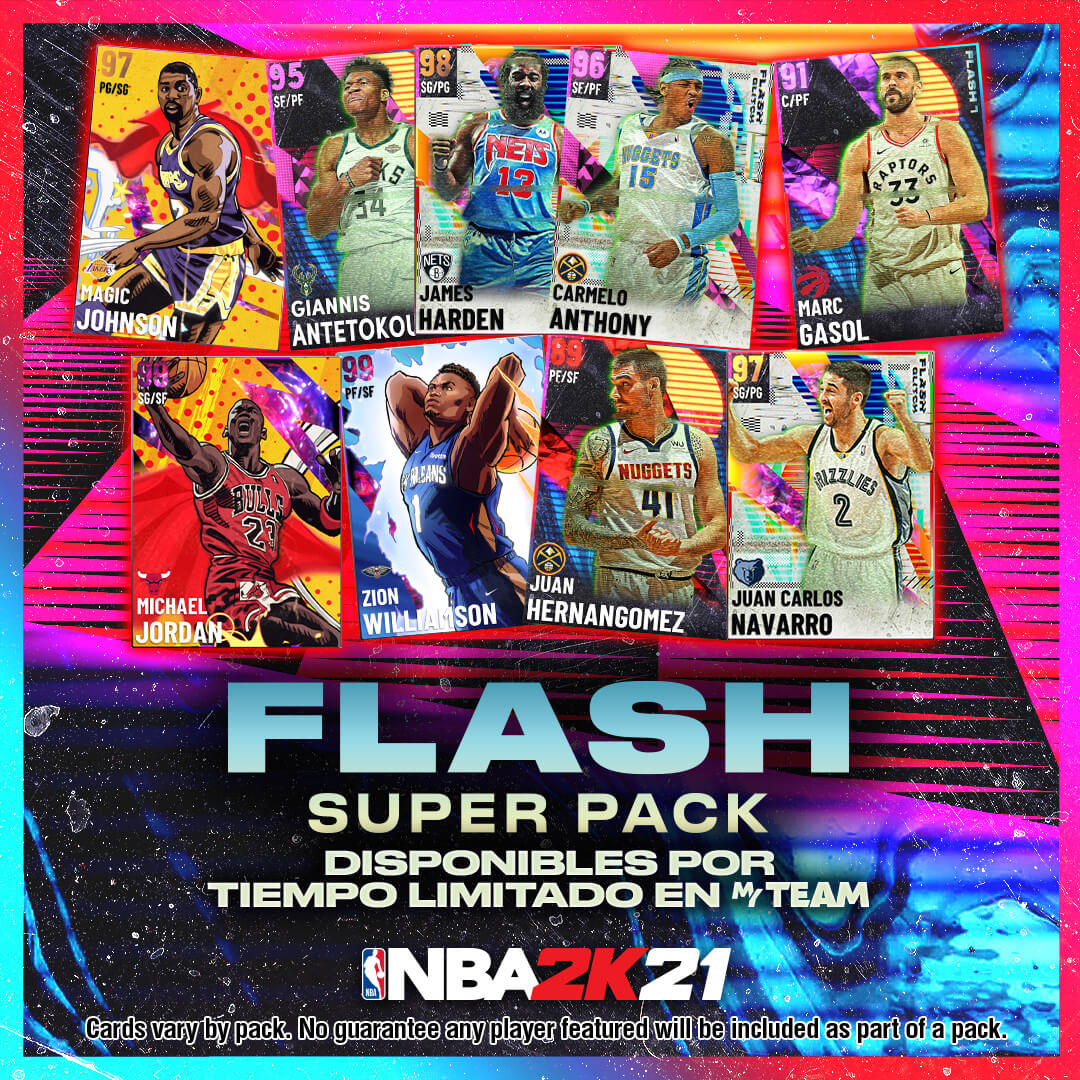 NBA 2K21 Myteam flash super pack