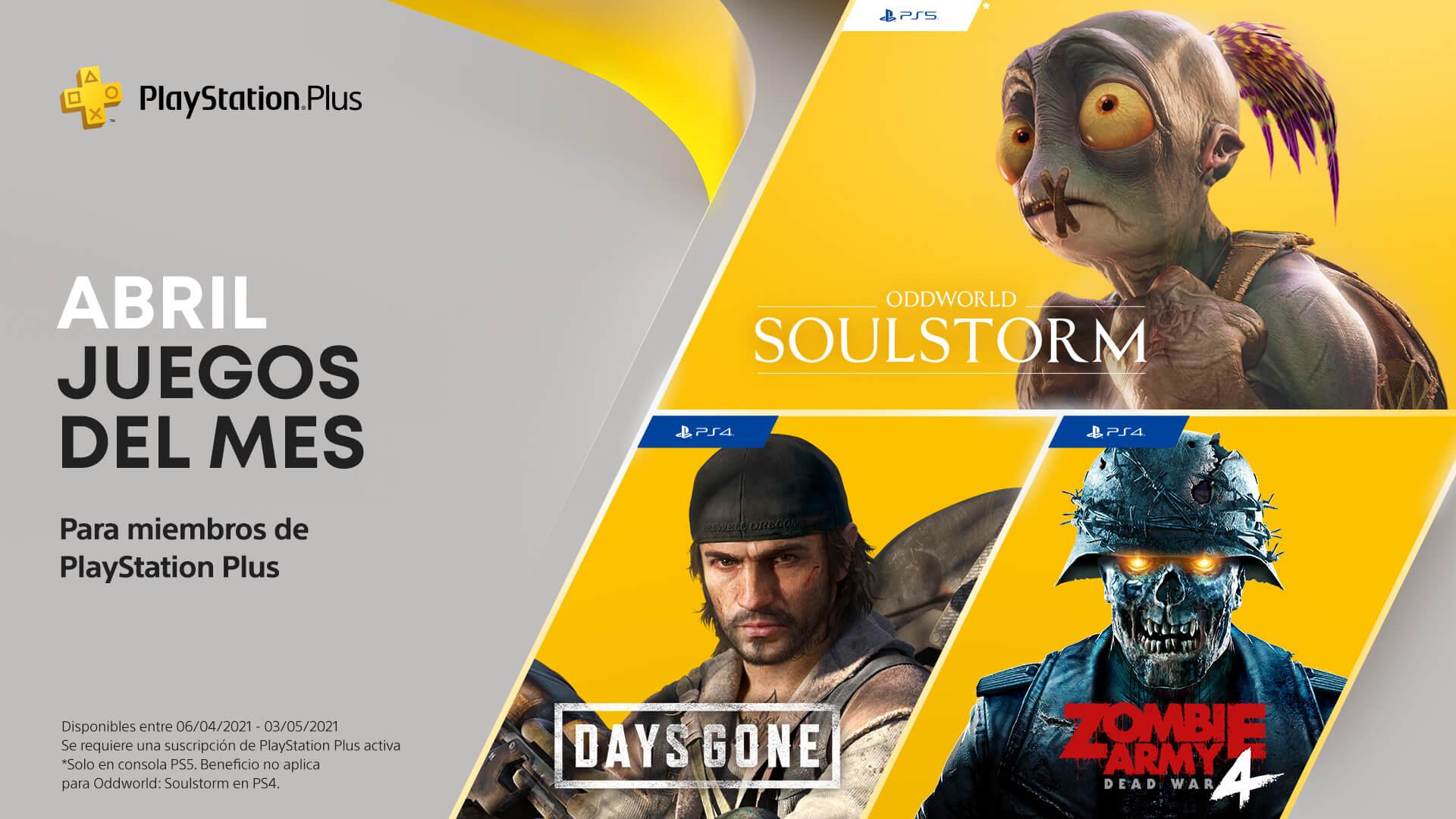 PlayStation Plus Abril 2020
