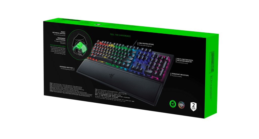 Razer BlackWidow V3 Analisis Caja 2