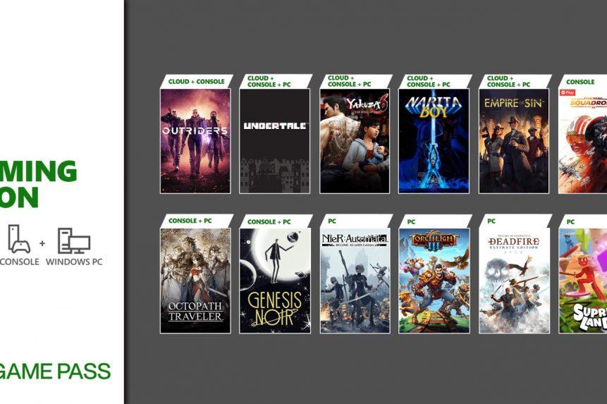 Xbox Game Pass Nuevos juegos marzo 2021