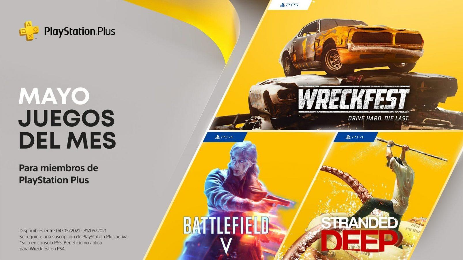 PlayStation Plus de mayo 2021