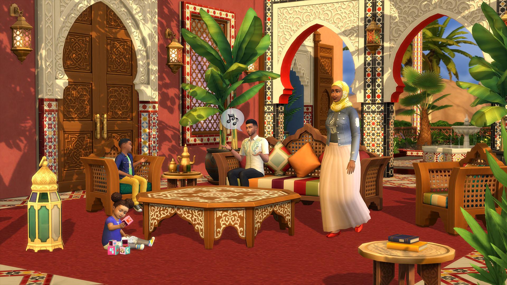 Los Sims 4 Oasis en el Patio