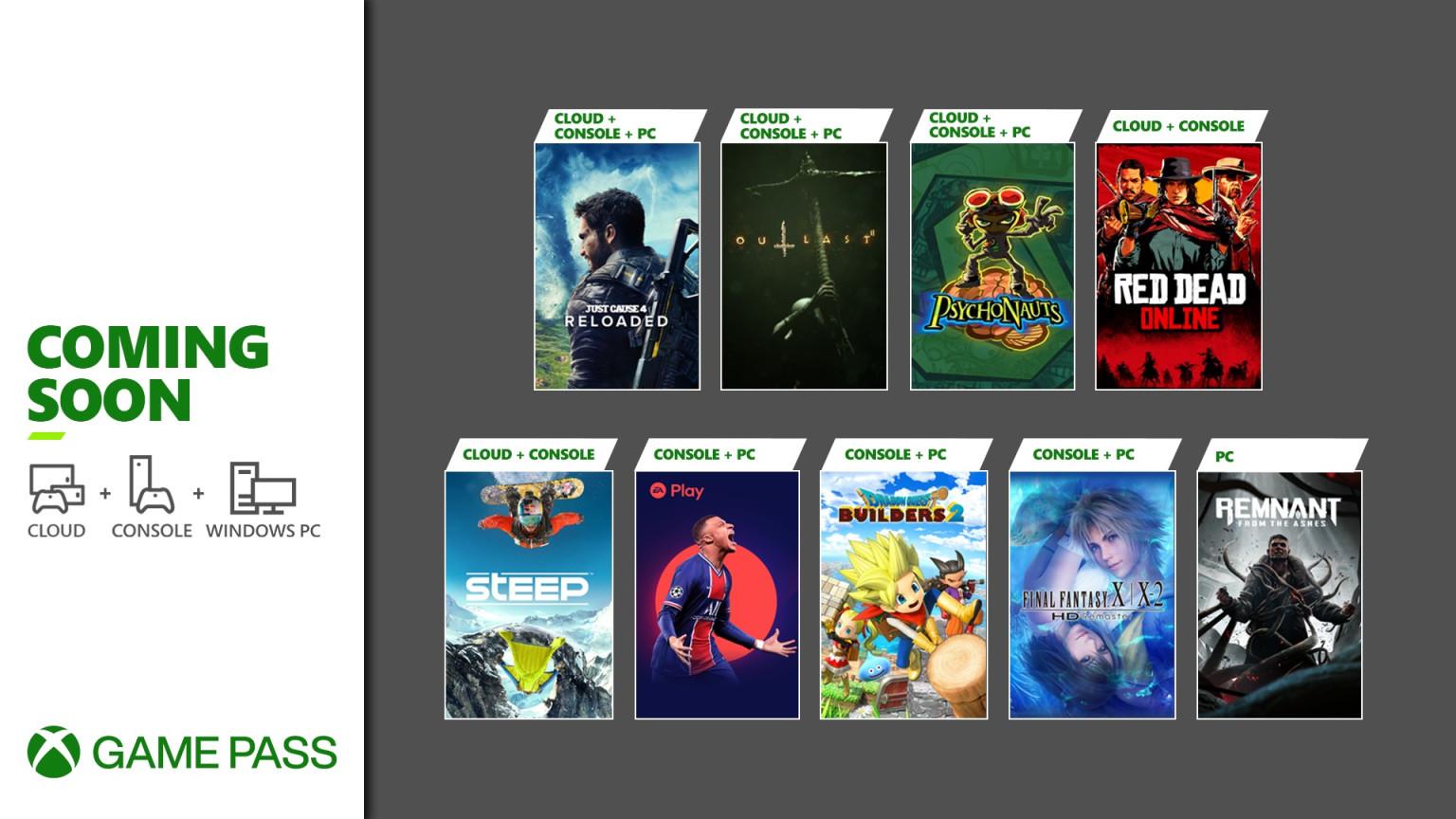 Xbox Game Pass de mayo 2021