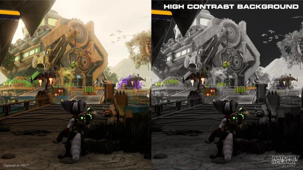 accesibilidad de Ratchet & Clank